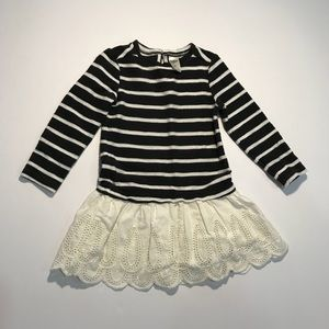 Osh Kosh B'gosh Striped Sweater Eyelet Dress